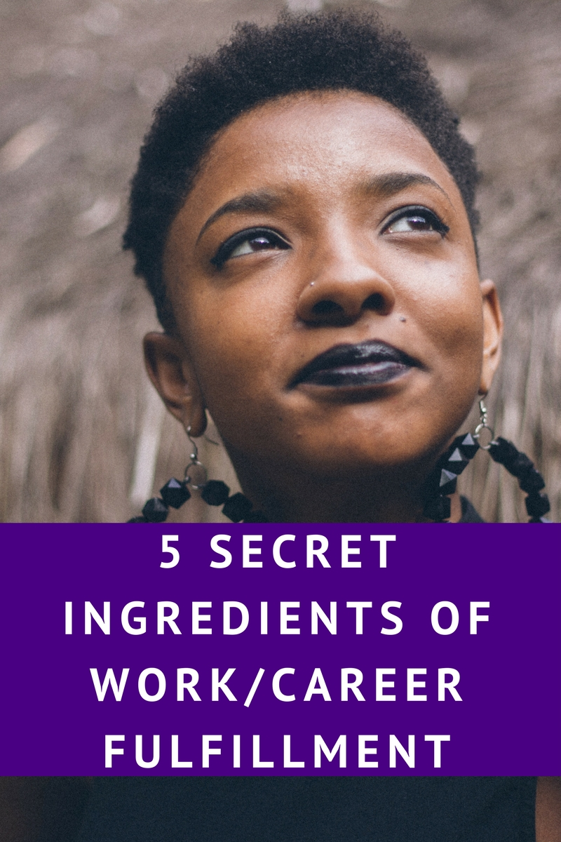 5 Secret Ingredients for Career/Work Fulfillment